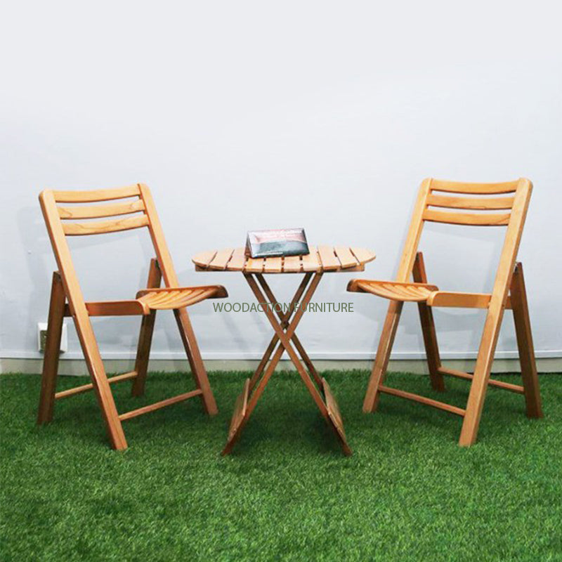 Three piece Beech wood Table and Chair Bundle