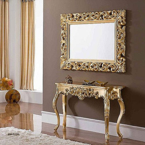 Mirror design in Pakistan- Mirror Console with drawers ...