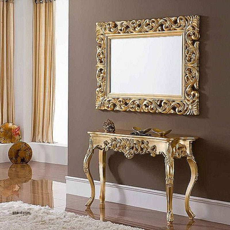 Golden Eye Mirror Console