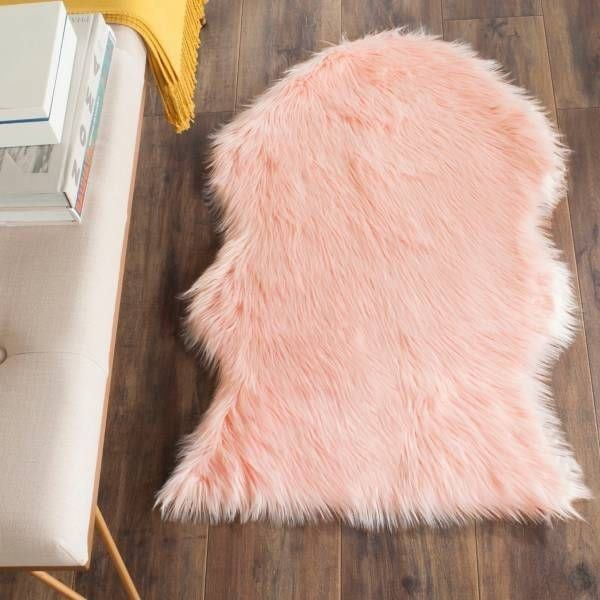 Puffy 4 by 6 ft  Rug pink