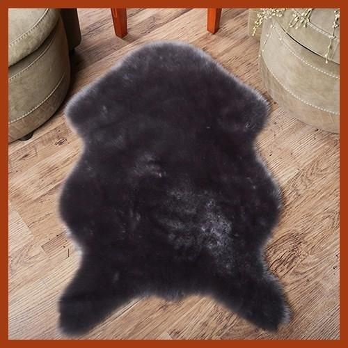 Puffy 4 by 6 ft  Rug black