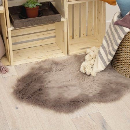 Puffy 4 by 6 ft  Rug Brown