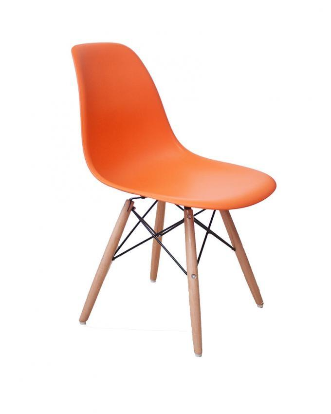 Orange casual chair