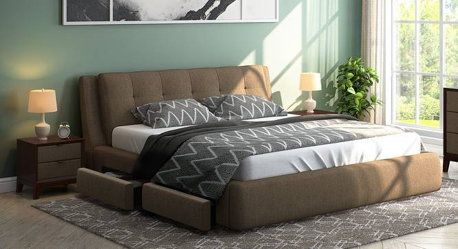 Aldo upholstered Double Bed