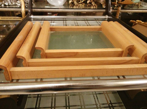 3 Serving trays with Glass