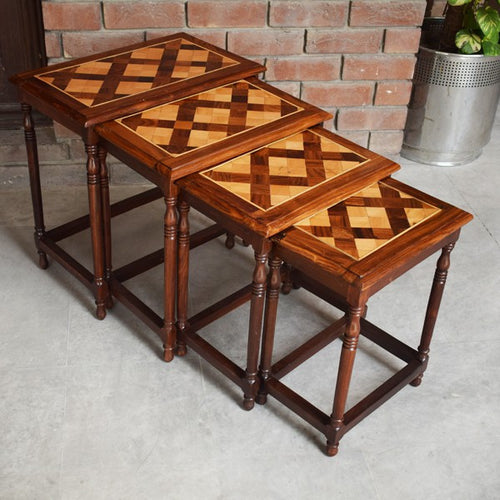 Boxxy wood nesting table set of 4
