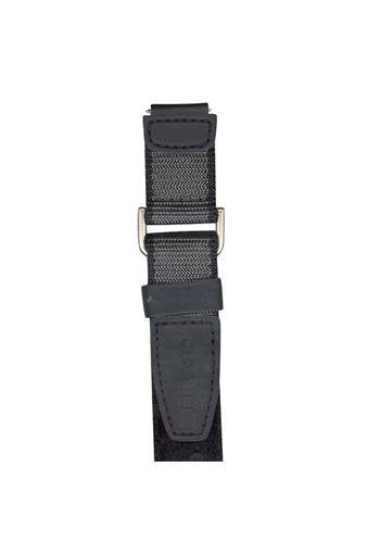 Casio 10179409 black Grey Cloth & Leather Watch Band -18mm