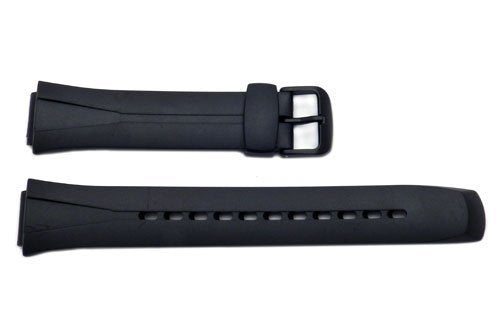Casio 10125561 Black Rubber Watch Bands-16/17mm