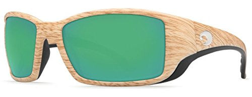Costa Del Mar Sunglasses - Blackfin- Glass / Frame: Ashwood Lens: Polarized Gree