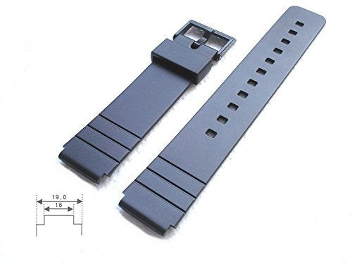 Casio Genuine Replacement Strap Black Resin Mw59