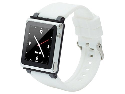 iWatchz Q Collection Wrist Strap for iPod Nano 6G-White