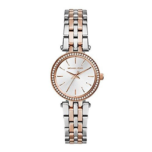 Michael Kors MK3298 Petite Darci Silver Dial Two-tone Ladies Wrist Watch