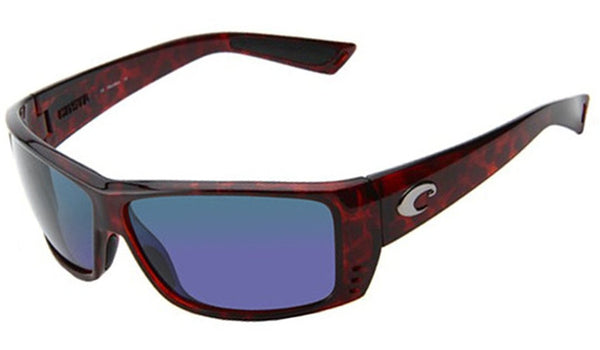 Costa Del Mar AT10BMGLP Cat Cay Sunglasses, Tortoise, Blue Mirror 580P Lens