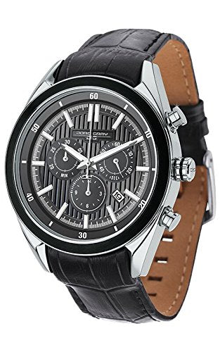 Jorg Gray JG6900-23 Men's Watch Chronograph Gray Dial With Integrated Black Genu