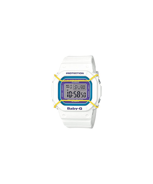 Casio Baby-G Digital Dial White Resin Quartz Ladies Watch BGD501-7BCR