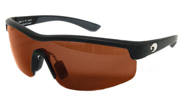 Costa Straits 580P Sunglasses - Polarized Matte Black/Copper, One Size - Men's