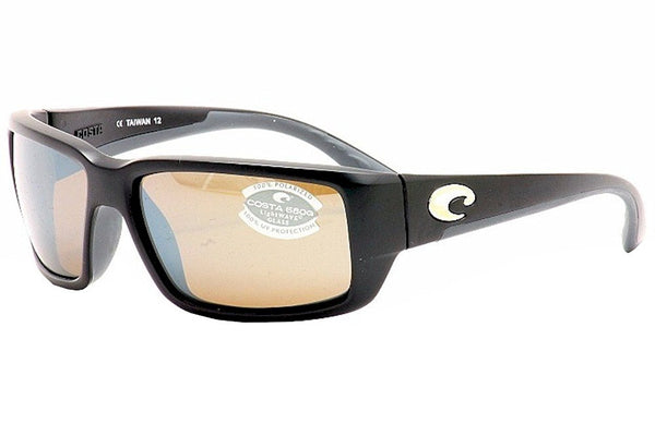 Costa Del Mar Sunglasses - Fantail- Glass / Frame: Black Lens: Polarized Silver