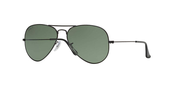 2f7b6e792e466 Ray-Ban Original Aviator Sunglasses (RB3025) Black Matte Green Metal -  Polarized