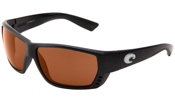 Costa Del Mar Tuna Alley Sunglasses, Matte Black/ Copper 580 Plastic Lens