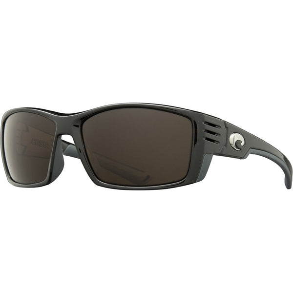 Costa Cortez Polarized Sunglasses - 580 Glass Lens Shiny Black Copper 580g, One