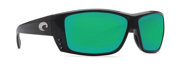 Costa Del Mar Cat Cay Sunglasses, Black, Green Mirror 580G Lens