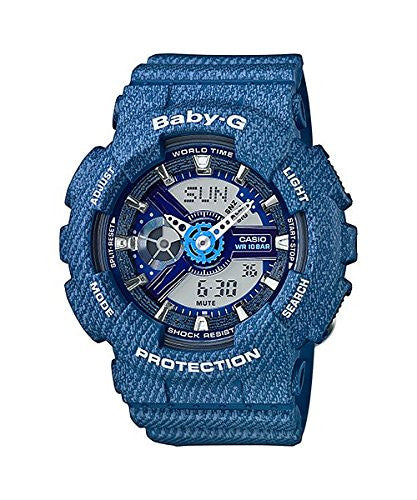 Casio Womens Baby-G BA110DC-2A2 Analog-Digital Casual Quartz Watch