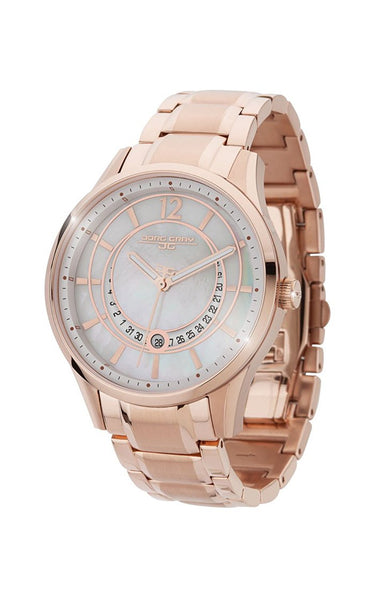 Jorg Gray JG1400-14 Rose Gold White 3 Hand Womens Watch