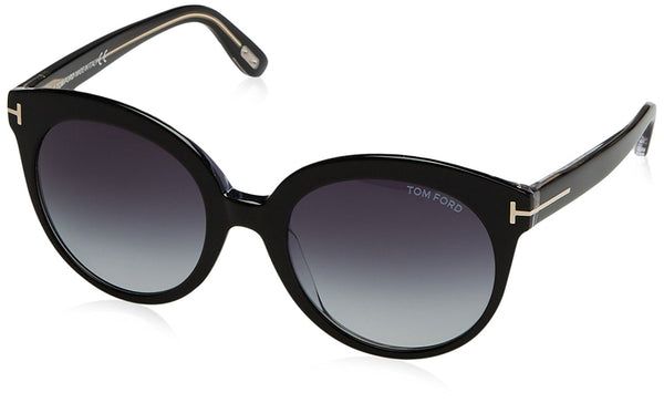 Tom Ford 429 03W Black Monica Round Sunglasses Lens Category 3 Size 54mm