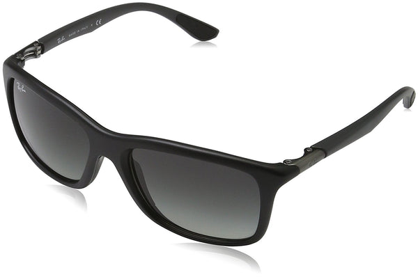 Ray-Ban INJECTED MAN SUNGLASS - MATTE BLACK Frame GREY GRADIENT Lenses 57mm Non-Polarized