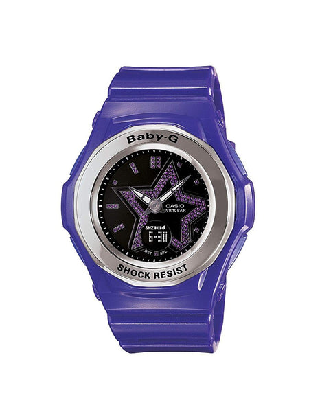Baby-G Ana-Digi Purple Strap Black Star Dial Women's Watch #BGA-103-6BDR