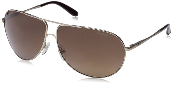 Carrera New Gipsy/s Aviator Sunglasses, Semi Matte Gold/Brown Gradient, 64 mm
