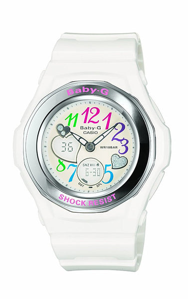 Casio Women's BGA101-7B Baby-G Gem Dial Analog Sport Watch