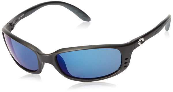 Costa Del Mar Brine C-Mates Sunglasses, Matte Black/Blue Mirror 580 Plastic