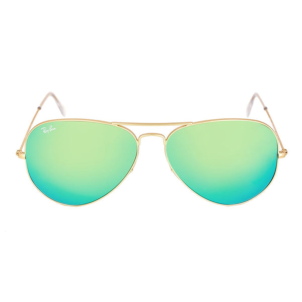 05bcfe8952 Ray-Ban Original Aviator Sunglasses (RB3025) Gold Matte Green Metal - Non