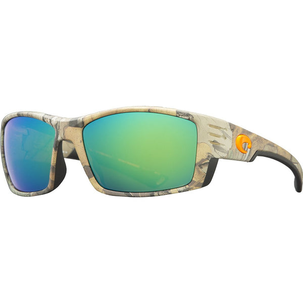 Costa Del Mar Cortez Sunglasses, Realtree Xtra Camo, Green Mirror 580P Lens