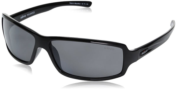 Revo Re 4037x Thrive Wraparound Polarized Wrap Sunglasses, Shiny Black Graphite,