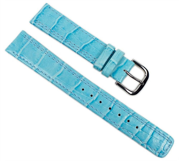 Casio watch strap watchband leather Band brightBlue 18mm for LWQ-200LE