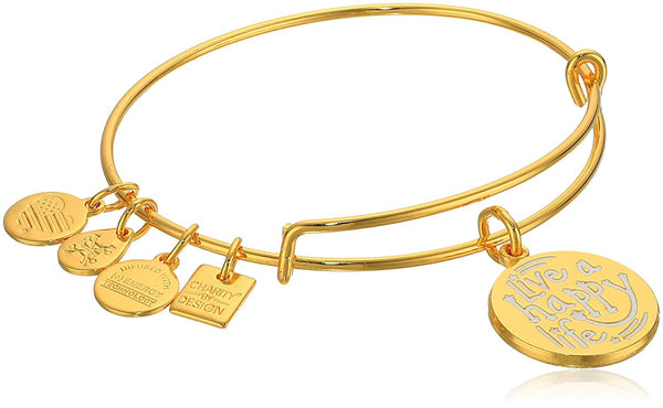 Alex and Ani Charity By Design, Live a Happy Life Bangle Bracelet
