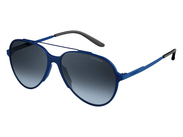 Carrera 118/S Sunglasses CA118S-0T6M-HD-5716 - Blue Frame, Gray Gradient Lenses, Distance Between