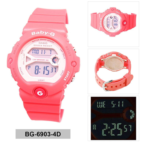 Casio Women's BG6903-4 Baby-G Shock Resistant Digital Sport Watch