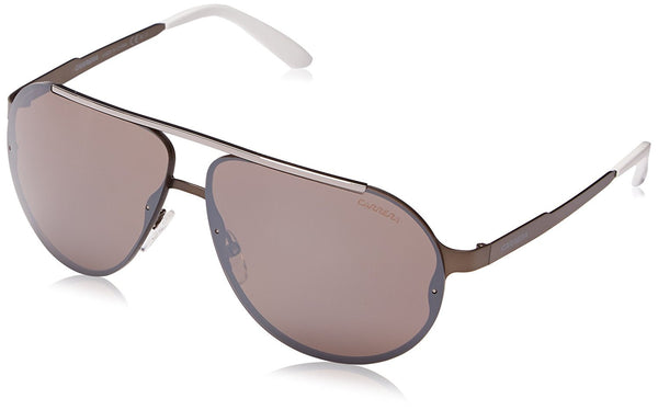 Carrera CA90S Aviator Sunglasses, Semi Metallic Brown, 65 mm