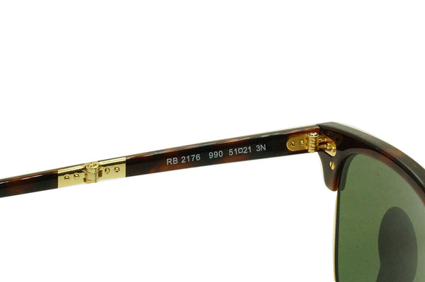 Ray-Ban Unisex Foldable Clubmaster Sunglasses, Red Havana/Crystal Green, One Siz