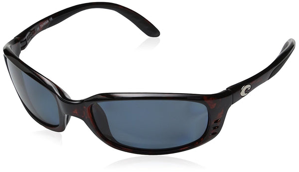 Costa Del Mar Brine Polarized Sunglasses, Tortoise, Gray 580P