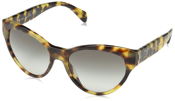 Prada 7S00A7 Havana 08SS Cats Eyes Sunglasses Lens Category 2 Size 55mm