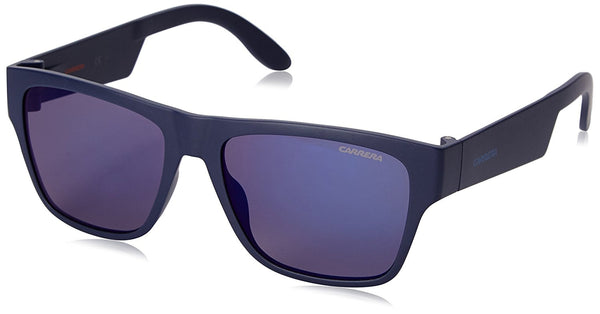 Carrera CA5002ST Rectangular Sunglasses, Blue & Blue Sky Mirror, 55 mm