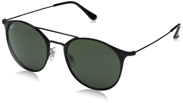 Ray-Ban Steel Unisex Round Sunglasses, Black Top Matte Black, 52 mm