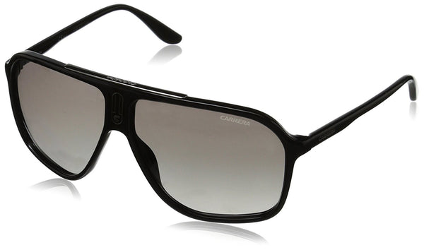 Carrera CA6016S Rectangular Sunglasses, Shiny Black, 62 mm