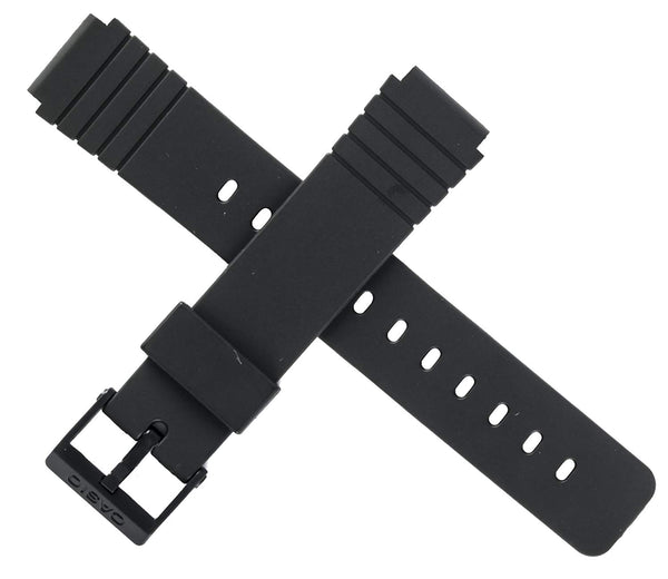 Casio 10224223 Black Rubber Watch Band 16mm (20mm)