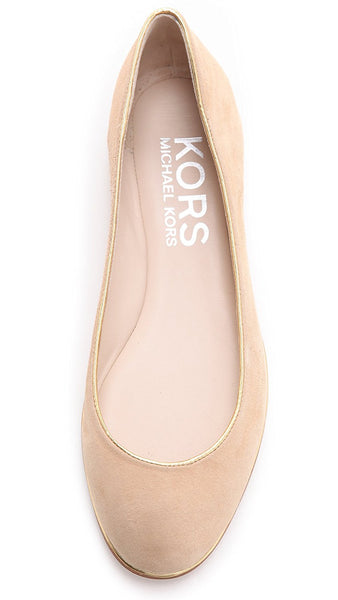 Michael Kors ODELL Womens Suede Nude color Flat Shoes