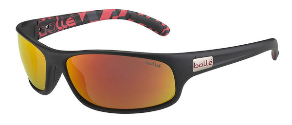 Bolle Anaconda Sunglasses, Matte Black/Red TNS Fire